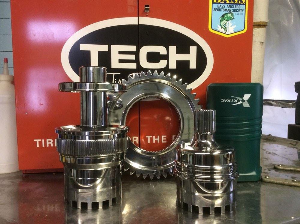 polished engine parts
