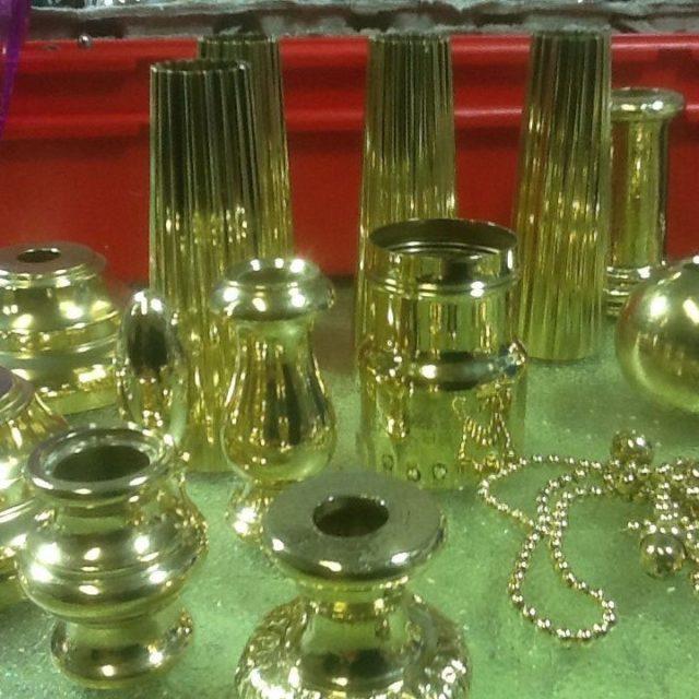 polished lighting parts